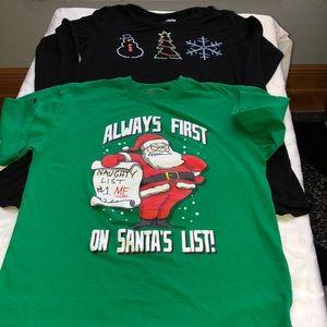 2 Girls Christmas shirts
